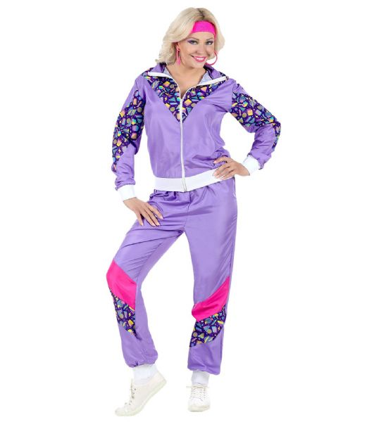 Adults 80s Shell Suit - Purple Costume 80s Fancy Dress